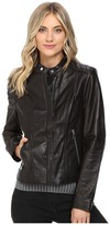 Andrew Marc Liv Leather Moto Jacket Women's Coat