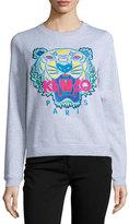 Kenzo Cotton Classic Tiger Sweatshirt, Light Gray