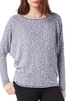 Michael Stars Women's Thumbhole Cuff Rib Boatneck Top