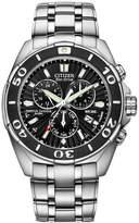 Citizen Men's Eco-Drive Signature Perpetual Calendar Chronograph Stainless Steel Bracelet Watch 43mm BL5440-58E