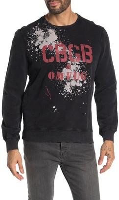 John Varvatos CBGB Splatter Crew Neck Pullover Sweatshirt