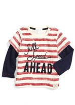 Pumpkin Patch Embroidered Stripe T-Shirt (Baby Boys)