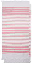 Nostalgic Beach Towel with Fringe (Set of 2)