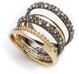 Alexis Bittar Crystal Encrusted Orbiting Band Ring