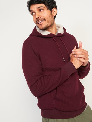 Old Navy Cozy Sherpa-Lined French-Rib Pullover Hoodie for Men