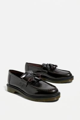 Dr. Martens Adrian Leather Tassel Loafers - Red UK 7 at Urban Outfitters