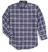 Thomas Dean Boy's Plaid Dress Shirt