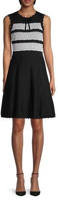 Kate Spade Lace-Jacquard Cotton Sweater Dress