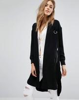 MANGO Longline Twill Jacket