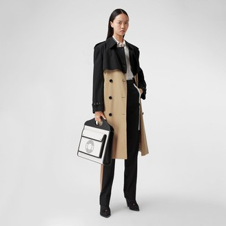 Burberry Twotone Reconstructed Trench Coat