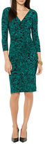 Lauren Ralph Lauren Printed Jersey Faux-Wrap Dress