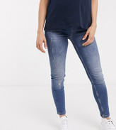 Gebe Maternity GeBe Maternity over-the-bump skinny jeans in light wash blue