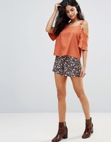 Wyldr Clock Work Floral High Waisted Shorts