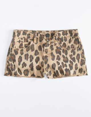 Blank NYC Stubborn Leopard Girls Shorts