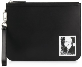 Karl Lagerfeld Paris printed clutch