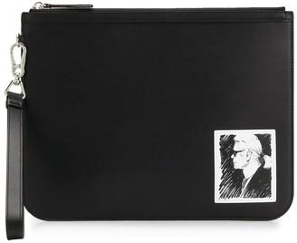 Karl Lagerfeld Paris Printed Clutch