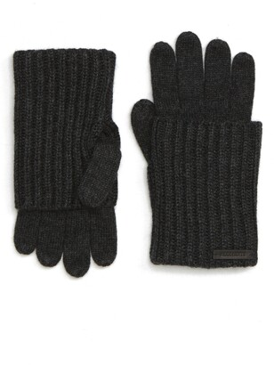 AllSaints Ribbed Cuff Convertible Gloves