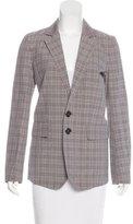 Burberry Plaid Button-Up Blazer w/ Tags
