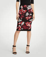 Ann Taylor Petite Winter Floral Jacquard Sweater Pencil Skirt