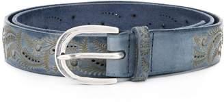 Orciani Embossed Design Belt