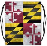 "Stylish Drawstring Bags Cool Fashion Maryland State Flag Basketball Drawstring Bags, Sport Ball Backpack - 16.5""(W) x 19.3""(H), Twin-sided Print"