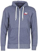 Nike M NSW HERITAGE HOODIE FZ men's Sweatshirt in Blue