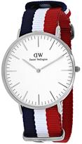 Daniel Wellington Classic Cambridge 0203DW Men's Nylon and Stainless Steel Watch