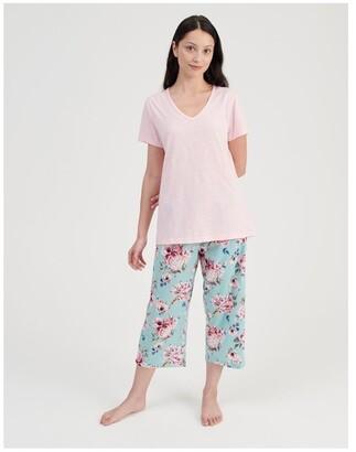 S.O.H.O New York V-Neck 3/4 Pyjama Set