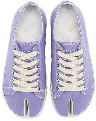 Maison Margiela Tabi Low Top Canvas Sneakers in Thistle | FWRD
