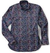 Visconti Hologram Long-Sleeve Woven Shirt