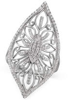 Macy's Diamond Filigree Ring (1/3 ct. t.w.) in Sterling Silver