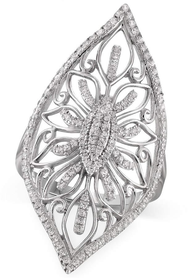 Macy's Diamond Filigree Ring (1/3 ct. t.w.) in Sterling Silver