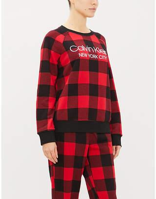 Calvin Klein Graphic-print cotton-blend jumper