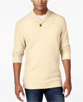 Tasso Elba Men's Big and Tall Honeycomb Textured Shawl-Collar Sweater, Only at Macy's