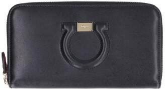 Salvatore Ferragamo Zip-around Leather Wallet
