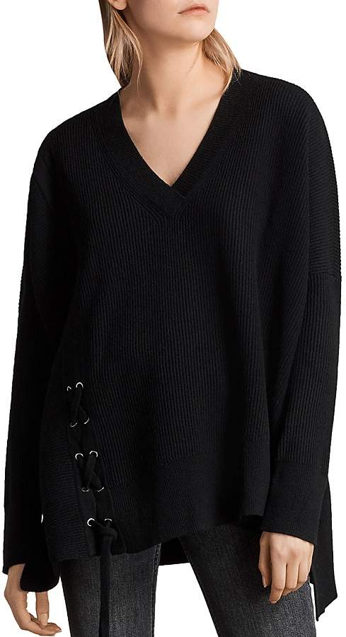 AllSaints Able Lace-Up Sweater