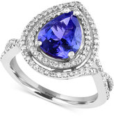 Effy Tanzanite Royale by Tanzanite (2-1/10 ct. t.w.) and Diamond (1/2 ct. t.w.) in 14k White Gold, Created for Macy's