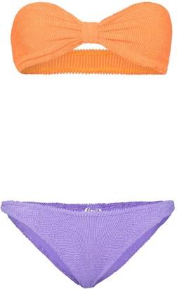 Hunza G Jean two tone bikini