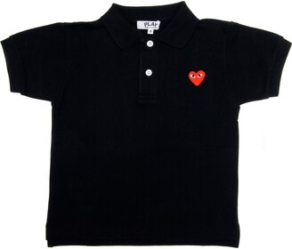 Comme des Garcons Little Red Heart Polo