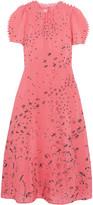 Valentino Printed Silk Crepe De Chine Midi Dress - Pink