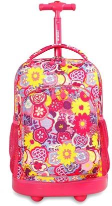 "J World Sunny 17"" Rolling Backpack -"
