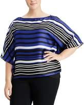 Lauren Ralph Lauren Plus Striped Georgette Top