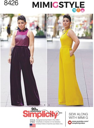 Simplicity Mimi G Style Jumpsuit Sewing Pattern, 8426
