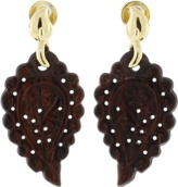 Tamara Comolli India Snake Wood Carved Earrings