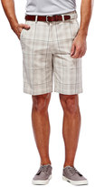Haggar Big & Tall Classic-Fit Plaid Expandable Waistband Shorts