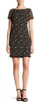 London Times Lace Scallop Trim Dress (Petite)