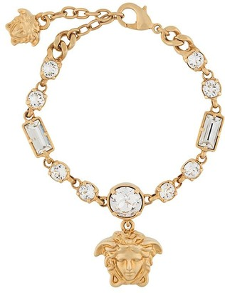 Versace crystal-embellished Medusa bracelet