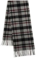 Saks Fifth Avenue Classic Plaid Cashmere Scarf