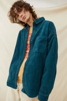 BDG Teal Jumbo Corduroy Shirt - Assorted S at Urban Outfitters