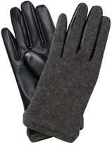 Oliver Bonas Wool Leather Mix Gloves